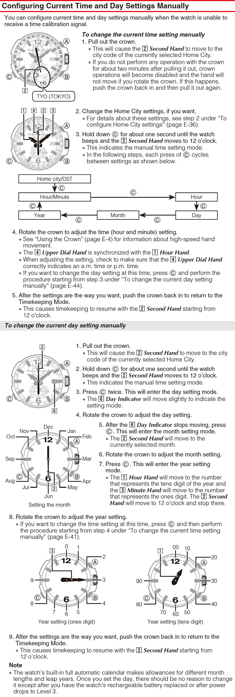 casio g shock setting instructions